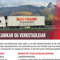 Ledige  stillingar:  Lastebilmekanikar  og  Verkstadleiar